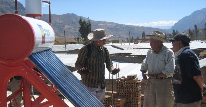 Solar water heater Chivay Peru