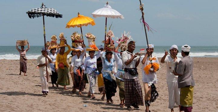 Water ritual in Seminyak, Bali