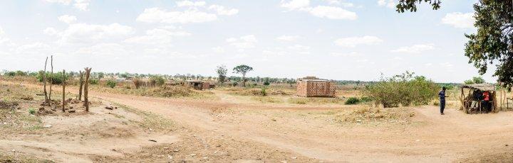 A rural scene near Lusaka, Zambia