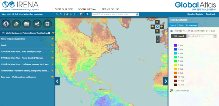 Most Detailed World Map.Irena And Dtu Launch World S Most Detailed Wind Resource Data Reeep