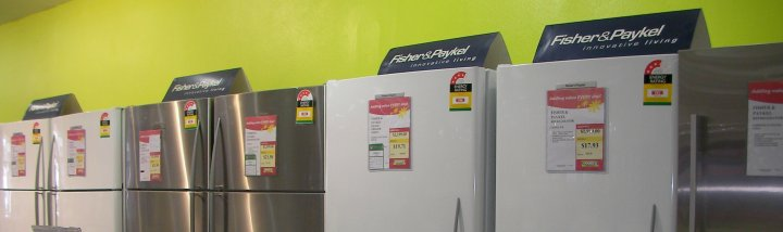 EE labelling on fridges