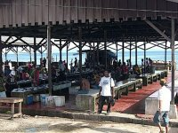Traditional Indonesian fish market with no ice or storage