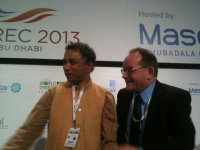 Martin Hiller and Harish Hande at WFES 2013