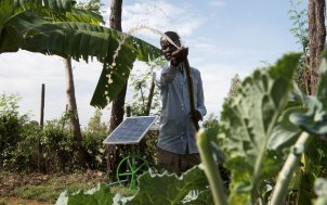 Solar irrigation solutions increase farmer resilience in Kenya. Photo: Futurepump